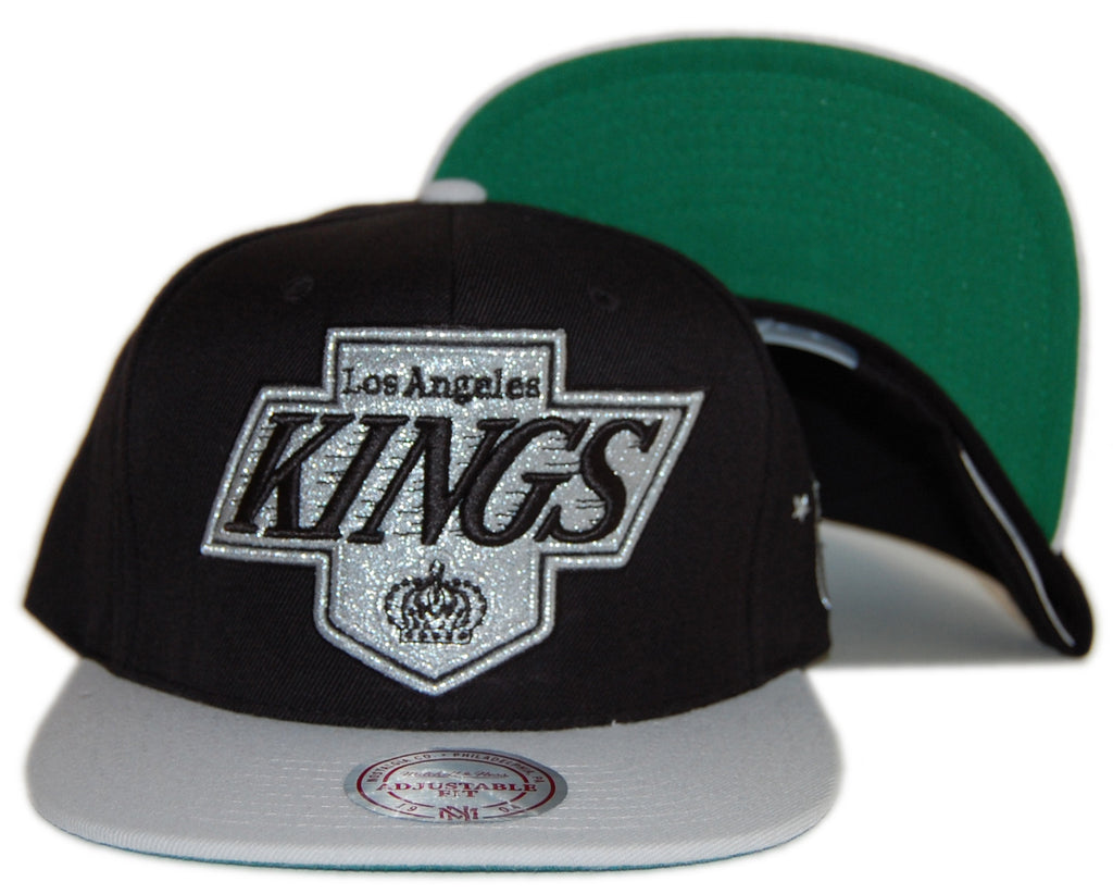 <!--020120814047658-->Mitchell & Ness x NHL - 'Los Angeles Kings - NHL Vintage XL Logo 2 Tone Snap Back' [(Black) Snap Back Hat]
