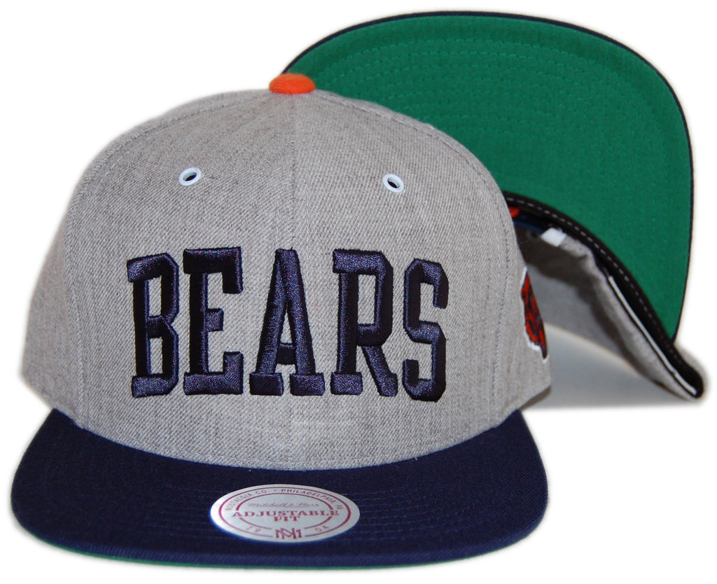 <!--020120925049436-->Mitchell & Ness x NFL - 'Chicago Bears - NFL Throwback Basic Arch Road Gray 2 Tone Snapback' [(Gray) Snap Back Hat]