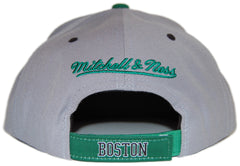<!--020120619046245-->Mitchell & Ness x NBA - 'Boston Celtics: NBA 2 Tone Arch Undervisor Print with Velcro Closure' [(Gray) Strap Back Hat]