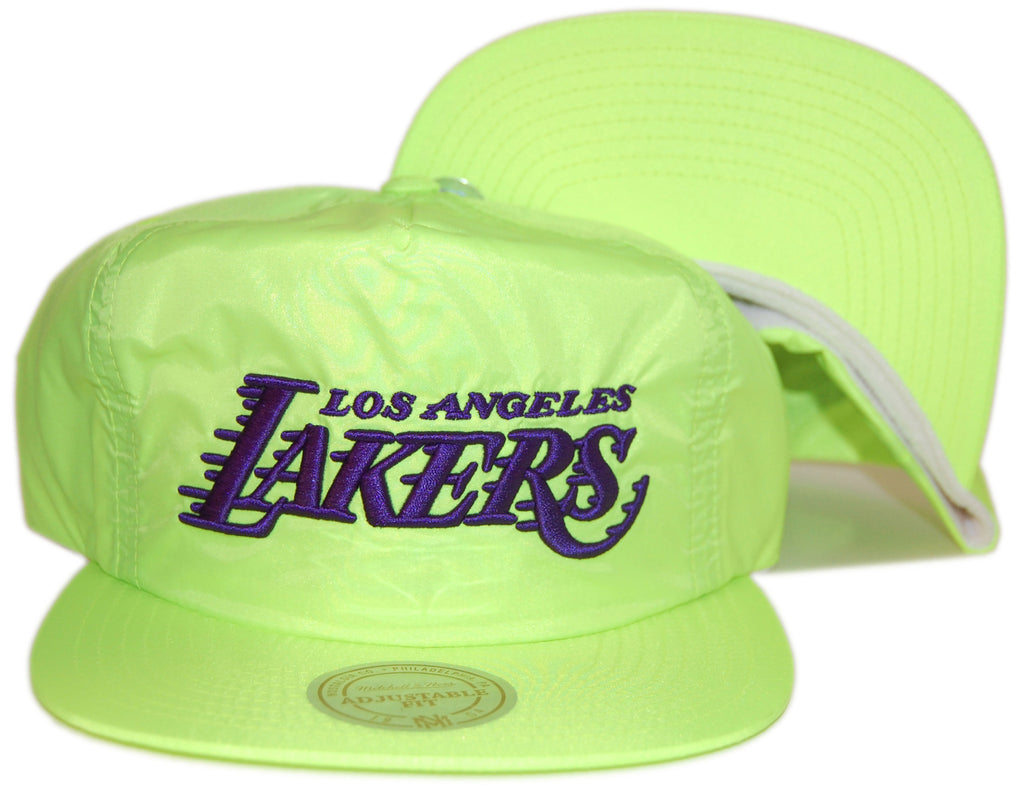 <!--020130226054271-->Mitchell & Ness x NBA - 'Los Angeles Lakers - Neon Pinch Panel' [(Yellow) Snap Back Hat]