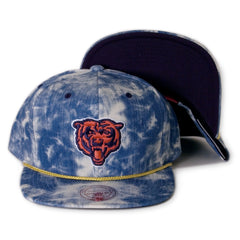 <!--020140226062789-->Mitchell & Ness x NFL - 'Chicago Bears: Acid Wash Denim Throwback' [(Blue) Snap Back Hat]