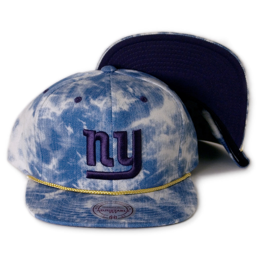 <!--020140226062788-->Mitchell & Ness x NFL - 'New York Giants: Acid Wash Denim Throwback' [(Blue) Snap Back Hat]