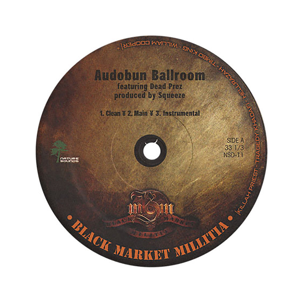 "<!--020050322004978-->Black Market Militia - 'Audobon Ballroom/ Thug Nation/ Hood Lullabye' [(Black) 12"""" Vinyl Single]"