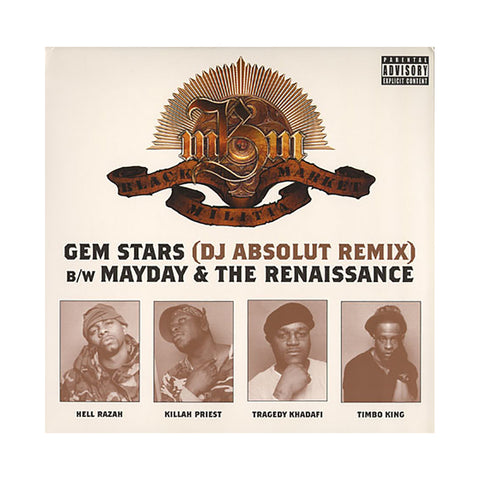 "Black Market Militia - 'Gem Stars (Remix)/ Mayday/ The Renaissance' [(Black) 12"" Vinyl Single]"