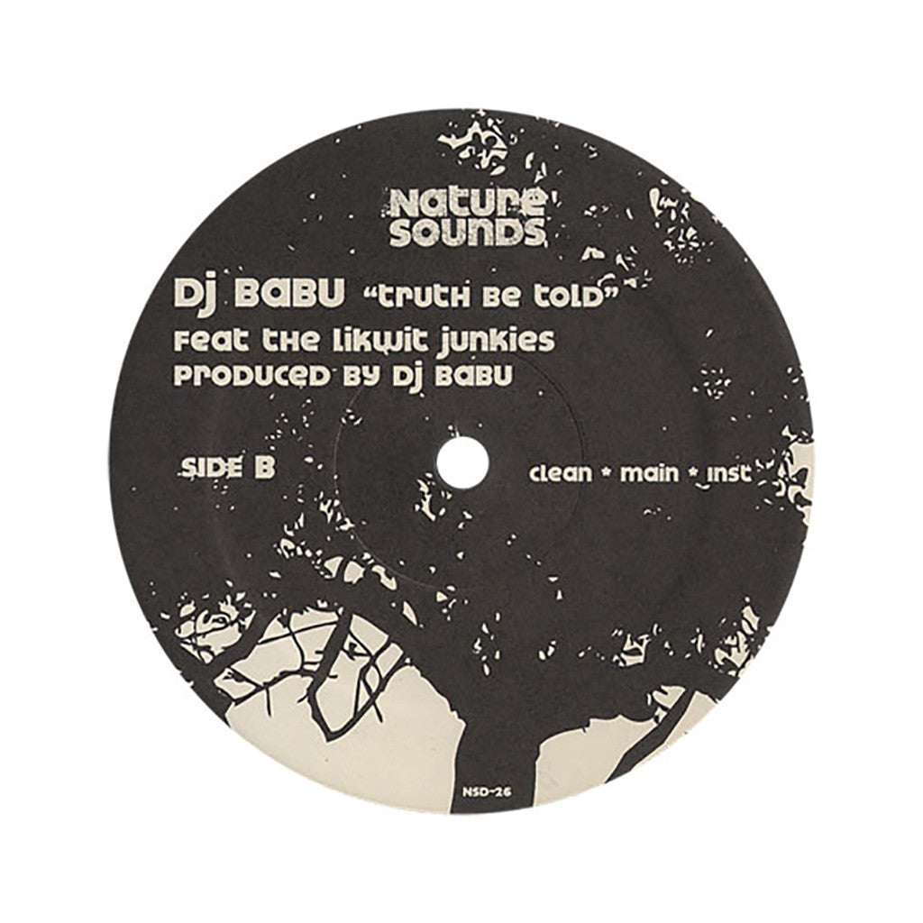 "<!--2007040317-->Babu - 'Fan Mail/ Truth Be Told' [(Black) 12"" Vinyl Single]"