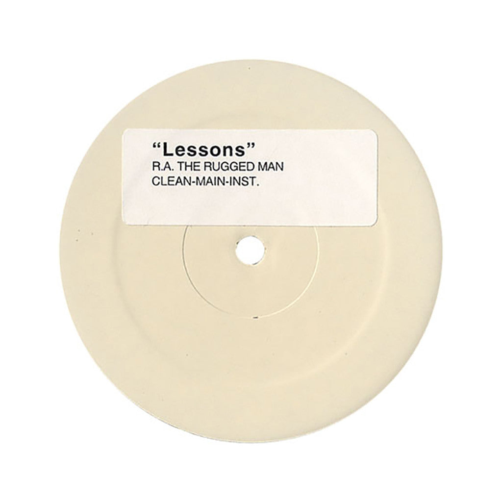 "R.A. The Rugged Man - 'Lessons/ How Low (WHITE LABEL)' [(Black) 12"" Vinyl Single]"