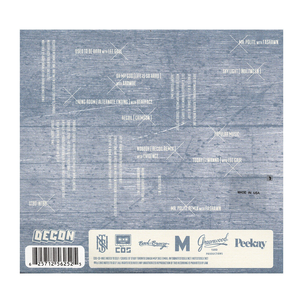 <!--120130226053566-->Notes To Self - 'Target Market (RECOIL)' [CD]