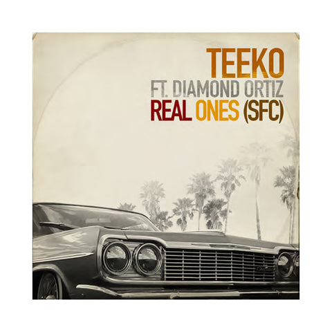 "Teeko & Diamond Ortiz - 'Real Ones (SFC)' [(Black) 7"""" Vinyl Single]"