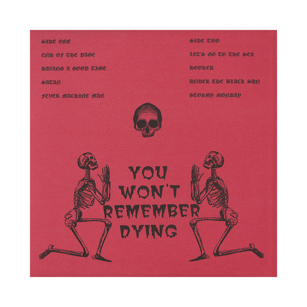 Bulbous Creation - 'You Won't Remember Dying' [(Black) Vinyl LP]