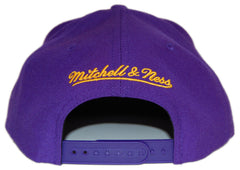 <!--020120814047663-->Mitchell & Ness x NBA - 'Los Angeles Lakers - NBA HWC Wool Solid Snap Back' [(Purple) Snap Back Hat]