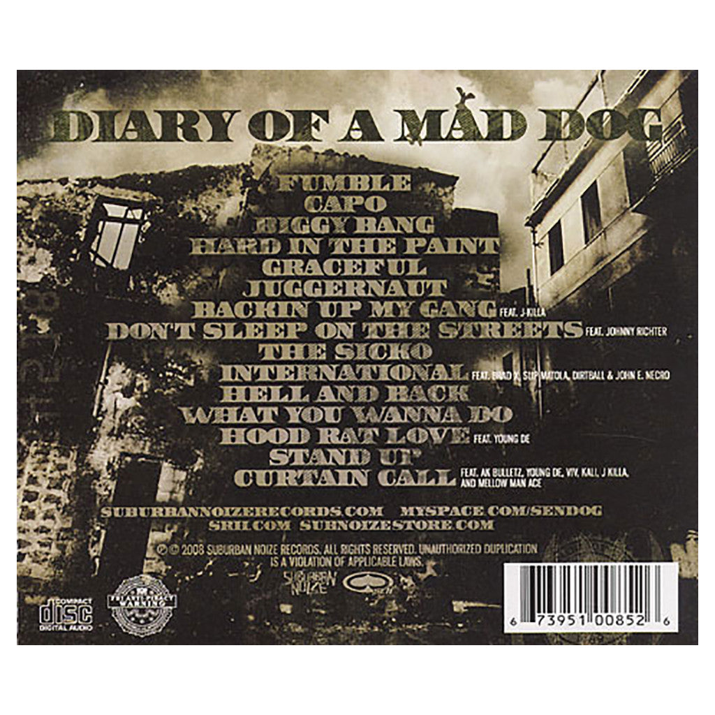 <!--120080930014003-->Sen Dog - 'Diary Of A Mad Dog' [CD]