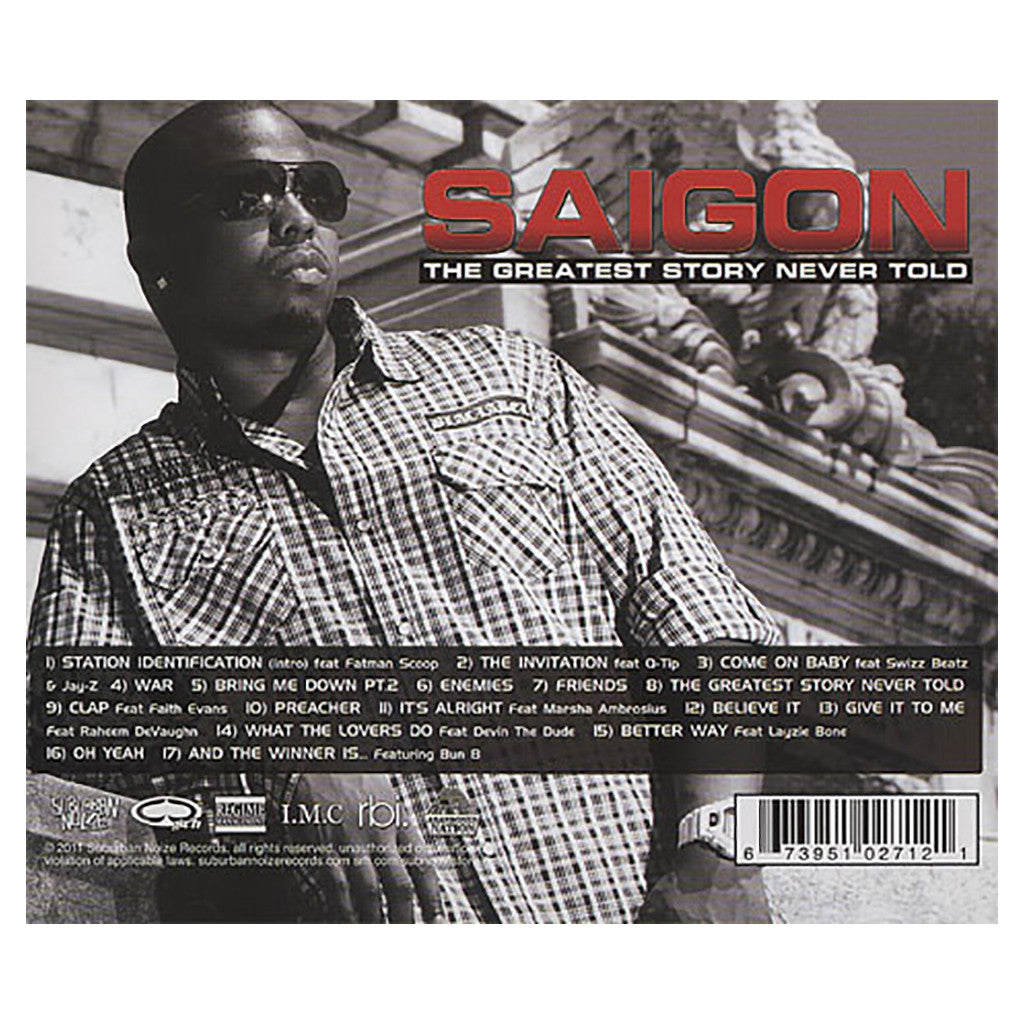 <!--120110215027048-->Saigon - 'The Greatest Story Never Told' [CD]