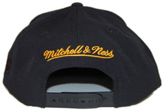 <!--020130122053447-->Mitchell & Ness x NBA - 'Los Angeles Lakers - NBA Blacked Out Script' [(Black) Snap Back Hat]