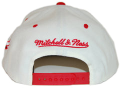 <!--020130416055805-->Mitchell & Ness x NBA - 'Chicago Bulls - NBA Script Tailsweeper' [(White) Snap Back Hat]