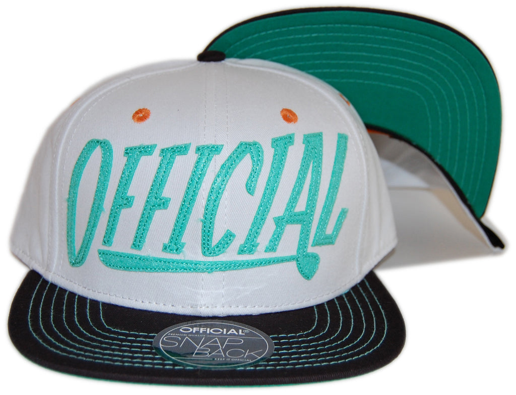 <!--020120925049413-->Official - 'Official Applique' [(White) Snap Back Hat]