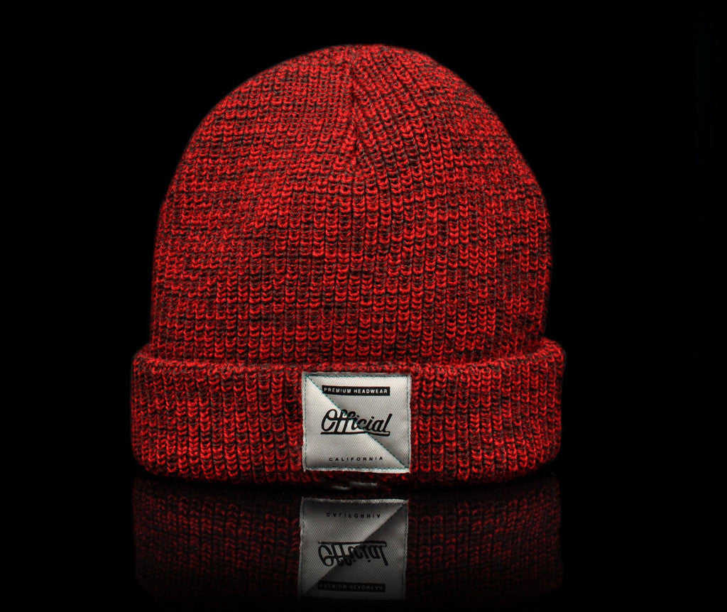 <!--020140808065098-->Official - 'Red Heather' [(Red) Winter Beanie Hat]