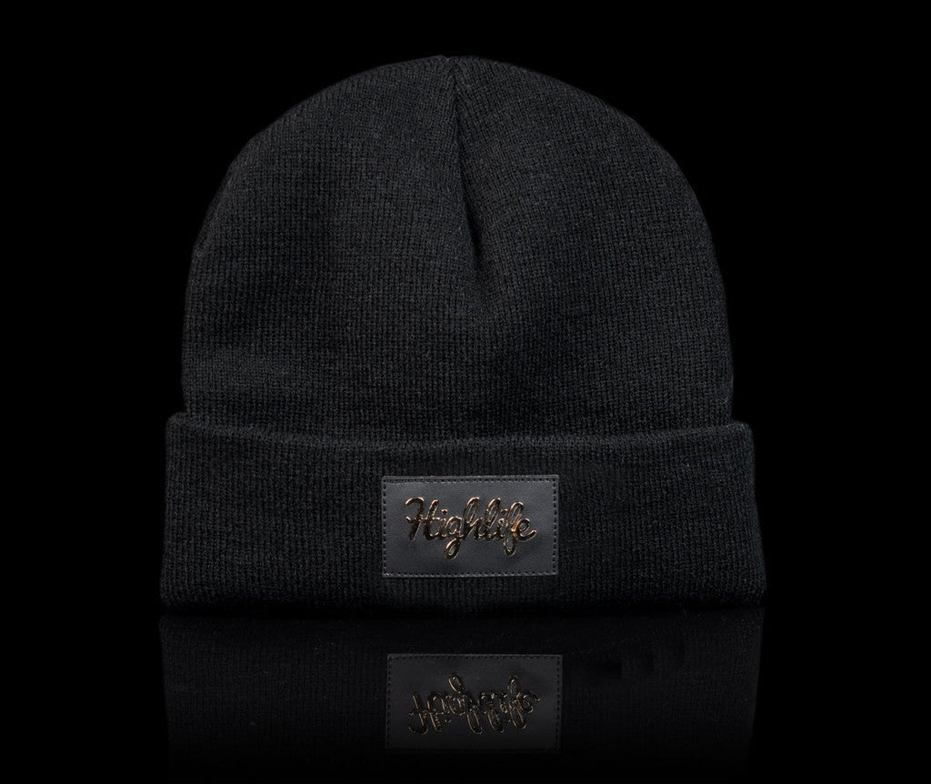 <!--020140808065099-->Official - 'Highlife Gold' [(Black) Winter Beanie Hat]