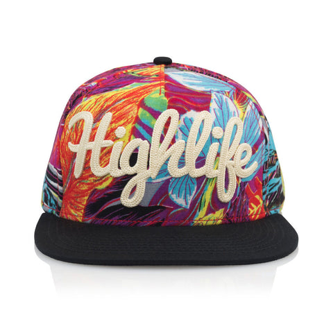 Official - 'Highlife Neon Jungle' [(Multi-Color) Snap Back Hat]