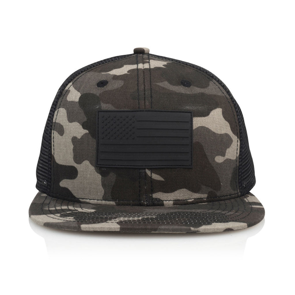 <!--020160826073940-->Official - 'BLK FLG' [(Camo) Snap Back Hat]