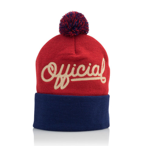 Official - 'Script Pom' [(Red) Winter Beanie Hat]