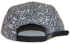 <!--020121204052120-->Official x Keith Haring - 'K. Haring Collab - All Over' [(White) Five Panel Camper Hat]