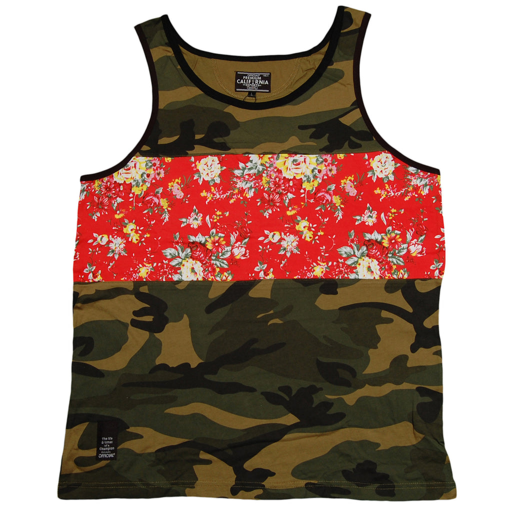 <!--2013060435-->Official - 'Guns And Carnations' [(Camo Pattern) Tank Top]