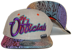 <!--020130129053546-->Official - 'The Officials Plane Snakes - Purple' [(Light Brown) Snap Back Hat]
