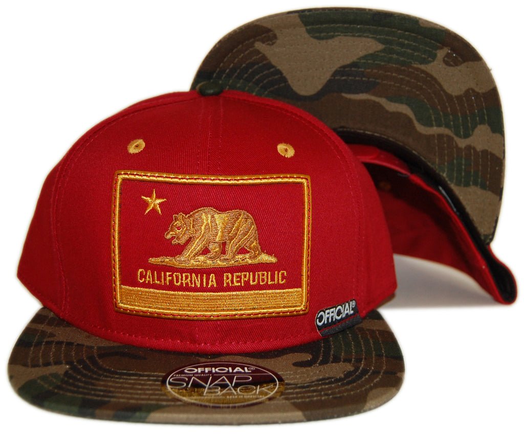 <!--020130129053548-->Official - 'Southern California War - Camo' [(Dark Red) Snap Back Hat]