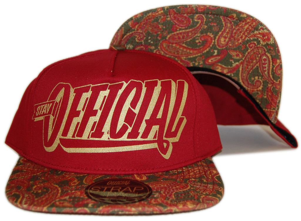<!--2013012900-->Official - 'Stay Official Paisley' [(Dark Red) Strap Back Hat]