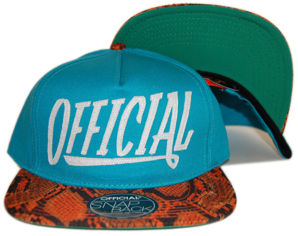 <!--020130129053551-->Official - 'Official 1D Miami Snakes' [(Light Blue) Snap Back Hat]