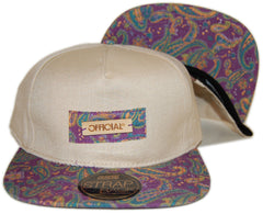 <!--020130129053542-->Official - 'Paisley Bamboos' [(Light Brown) Strap Back Hat]