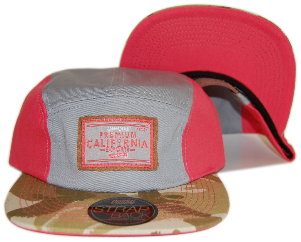 <!--020130129053558-->Official - 'Salmon In The Yemen - Light Red/ Desert Camo' [(Light Gray) Five Panel Camper Hat]