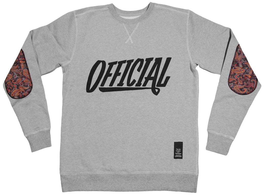 <!--2013021944-->Official - 'Official - Paisley' [(Gray) Crewneck Sweatshirt]