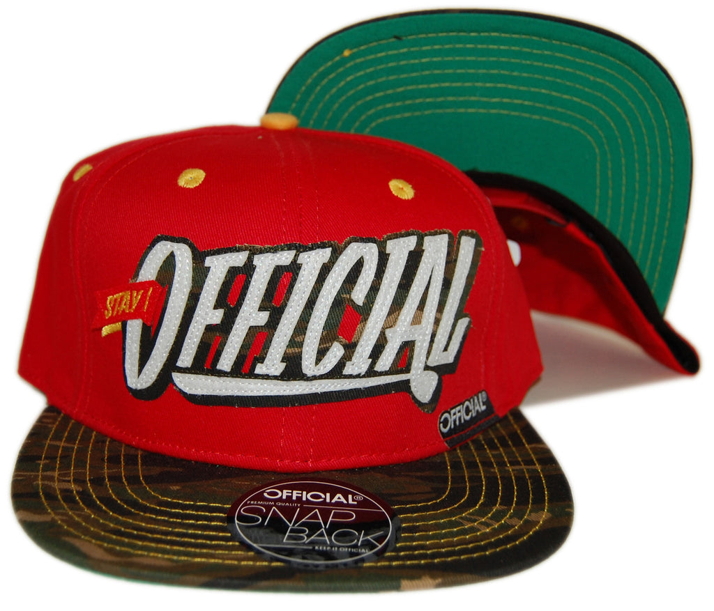 Official - 'Stay Official Camo 9'ers' [(Red) Snap Back Hat]