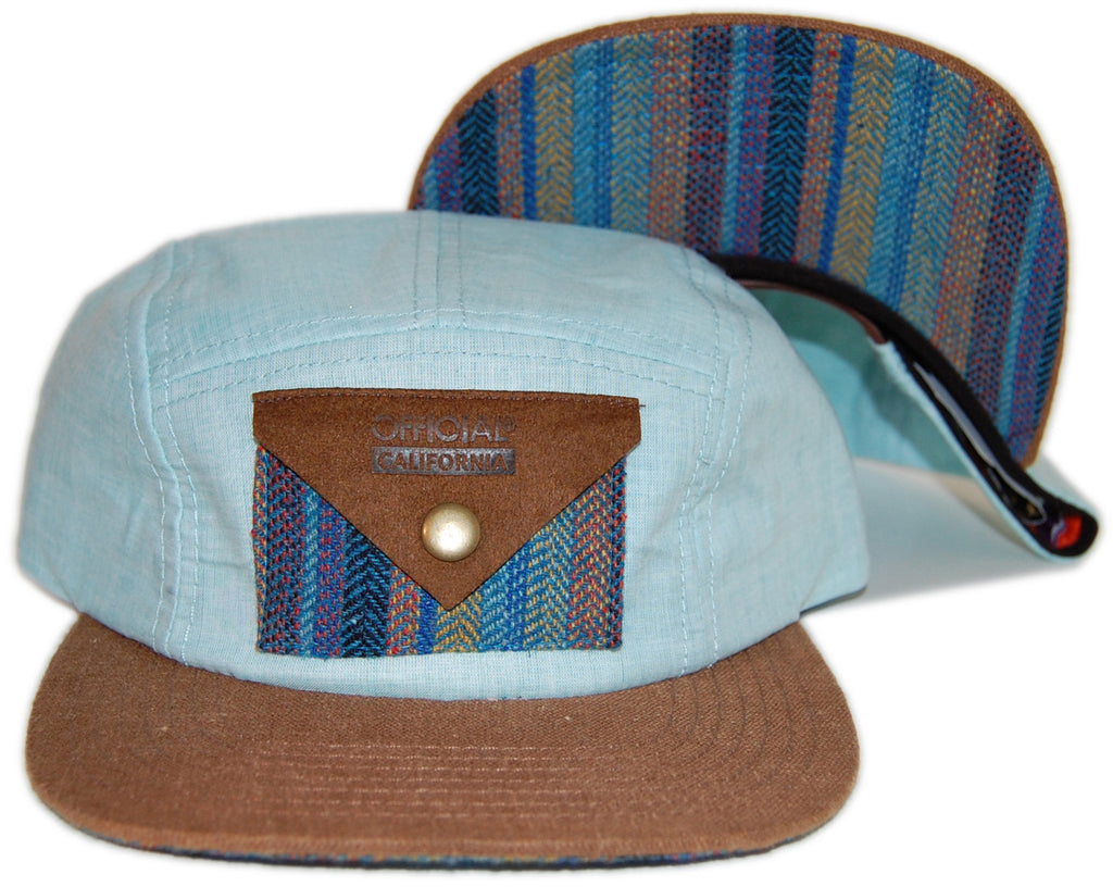 <!--2012120427-->Official - 'Chambray Swayzee' [(Light Blue) Five Panel Camper Hat]