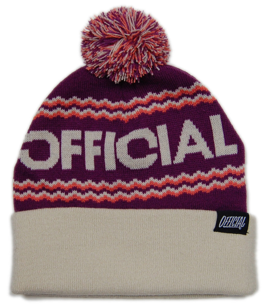 <!--020121204052126-->Official - 'Togano - Light Brown' [(Purple) Winter Beanie Hat]