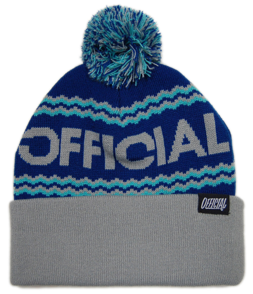 <!--020121204052128-->Official - 'Togano - Gray' [(Blue) Winter Beanie Hat]