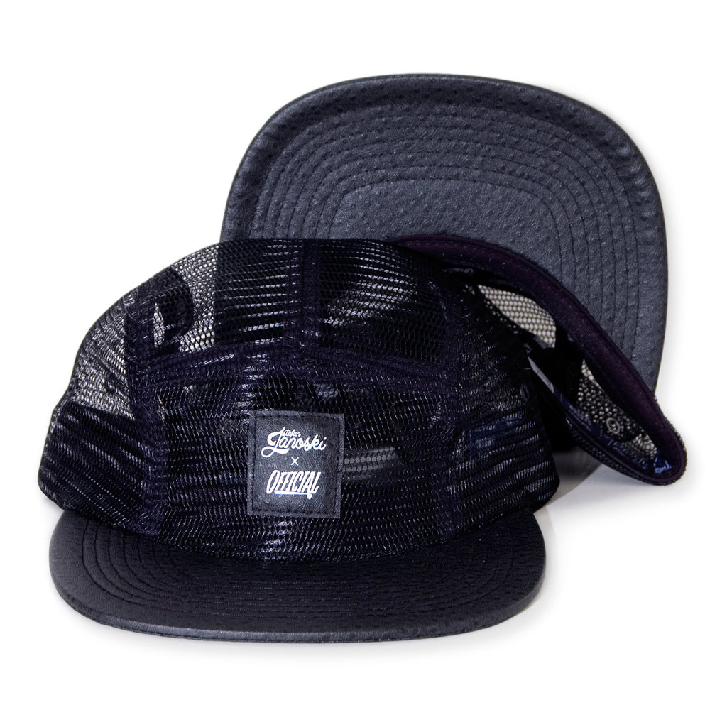 <!--020140210062429-->Official x Stefan Janoski - 'Camelus Meshus' [(Black) Five Panel Camper Hat]