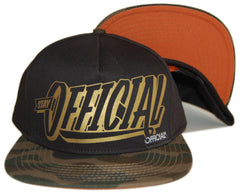 <!--020120904048587-->Official - 'Stay Official - Gold/ Camo' [(Black) Snap Back Hat]