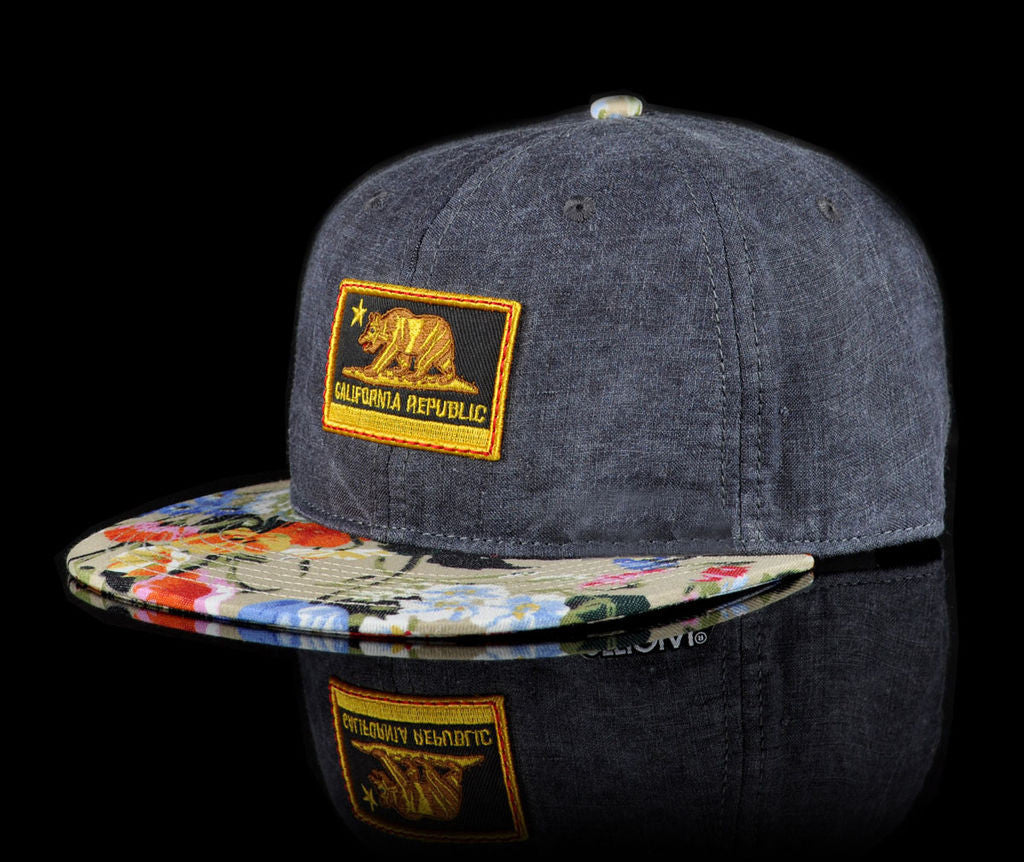 <!--020140523063866-->Official - 'Cali Unstructured' [(Dark Gray) Strap Back Hat]