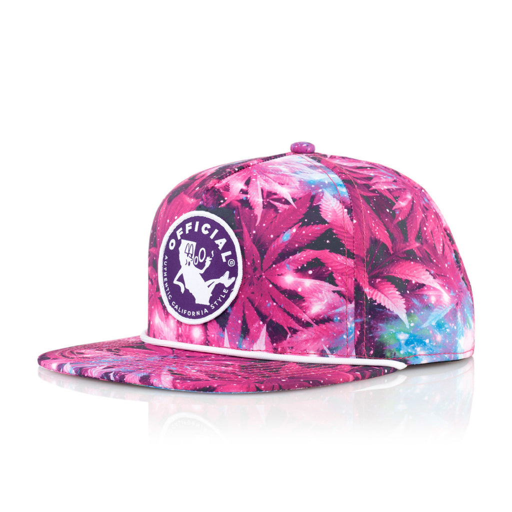 <!--020160511073076-->Official - '#YUNGCALI WEEDSPACE' [(Dark Pink) Snap Back Hat]