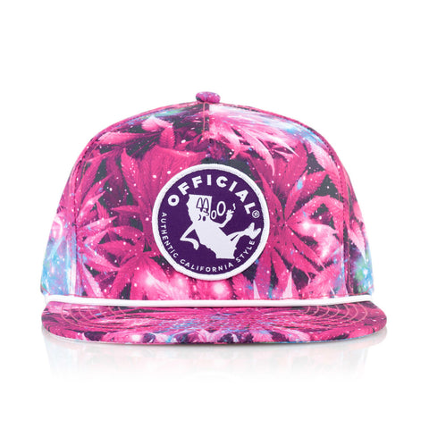 Official - '#YUNGCALI WEEDSPACE' [(Dark Pink) Snap Back Hat]