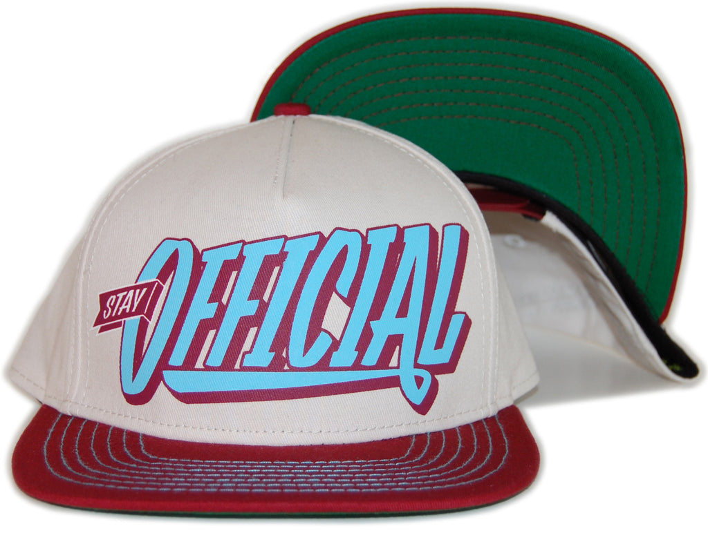<!--020120501043962-->Official - 'Stay Official - Burgundy' [(Natural) Snap Back Hat]