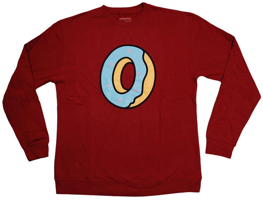 <!--2013082033-->OFWGKTA - 'Single Donut' [(Dark Red) Crewneck Sweatshirt]