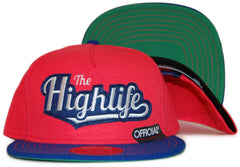 <!--020120110039913-->Official - 'Highlife' [(Light Red) Snap Back Hat]