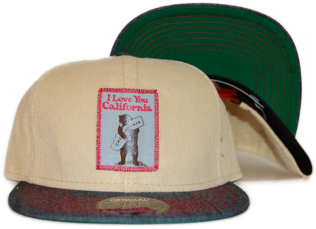 <!--020120110039912-->Official - 'I Love California' [(Natural) Snap Back Hat]