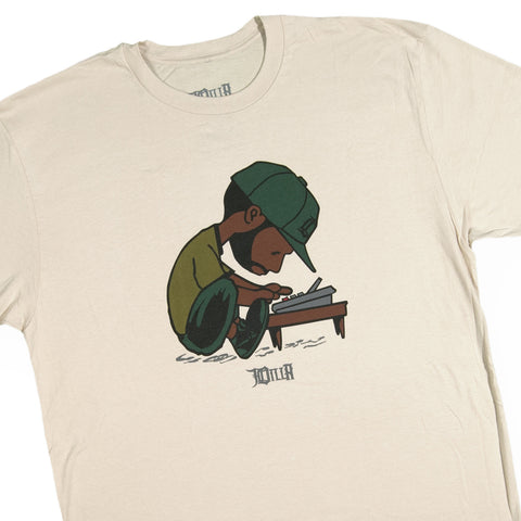 J Dilla - 'Maestro' [(Light Brown) T-Shirt]
