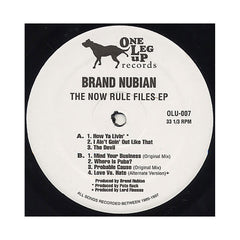 <!--020091006018198-->Brand Nubian - 'The Now Rule Files EP (1989-1997) (Crispy Nuggets: 2 of 5)' [(Black) Vinyl EP]
