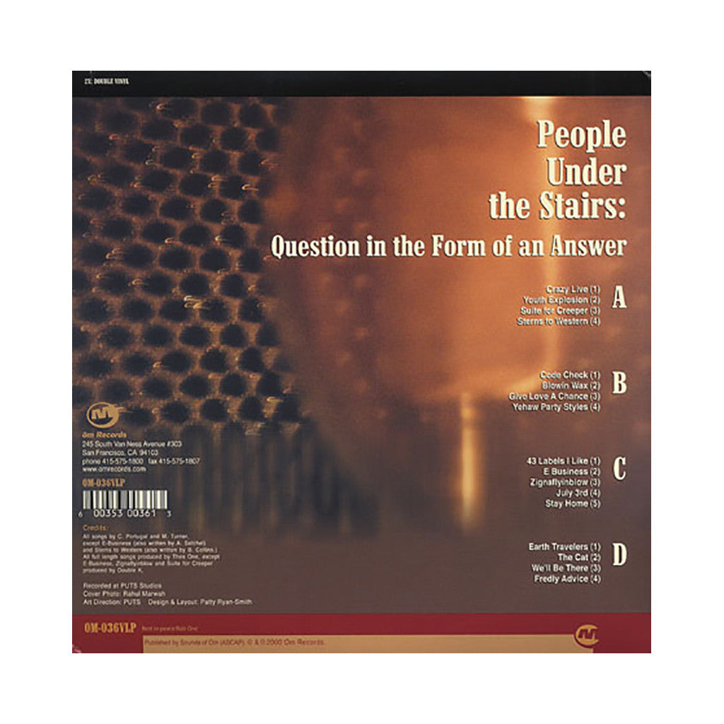 <!--020000711013599-->People Under The Stairs - 'Question In The Form Of An Answer' [(Black) Vinyl [2LP]]