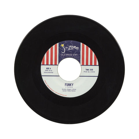 "J-Zone - 'Funky/ Go Back To Sellin' Weed' [(Black) 7"" Vinyl Single]"